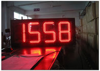 12 Inches Time / Temperature / Date Electronic LED Display Boards GPS Waterproof